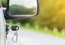 Car key on right car door Royalty Free Stock Photography