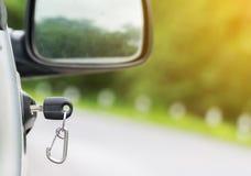 Car key on right car door Royalty Free Stock Photography