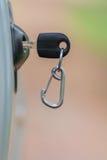 Car key on right car door Royalty Free Stock Photo