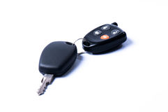 Car key and secure charm Royalty Free Stock Photo