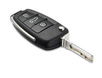 Car key shallow dof with clipping path Royalty Free Stock Photo