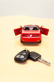 Car key with silhouette of a convertible cabriole Royalty Free Stock Photos