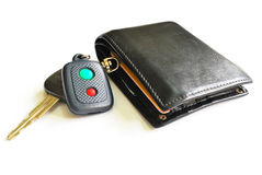 Car key & wallet Stock Image
