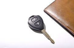 car key with wallet Royalty Free Stock Images