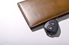 car key with wallet Stock Photography