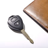 Car key with wallet Stock Photo