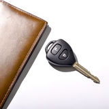 Car key with wallet Royalty Free Stock Photography