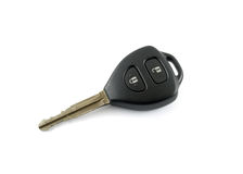 Car key on white background. Car key black white background Stock Image
