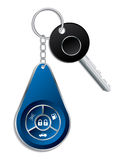 Car key with wireless remote Stock Images