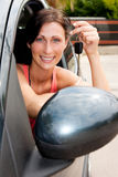 Car key woman Stock Photography