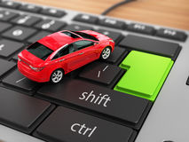 Car on the keyboard. Stock Photography