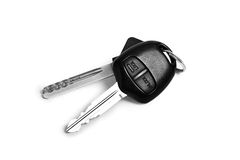Car keys. Objects isolated on white background royalty free stock photos