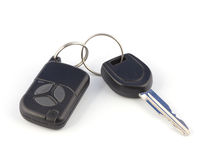 Car keys. With alarm pendant on a white background Stock Photography