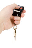 Car keys. And  Remote Control Stock Image