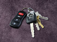 Car Keys. On carpet Stock Photos