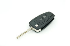 Car keys aginst on white background Royalty Free Stock Photos