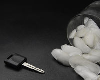 Car Keys and Alcohol Stock Photography
