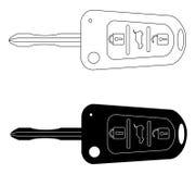 Car keys automobile security lock and car keys remote control alarm Royalty Free Stock Photo