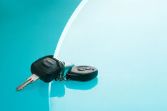 Car Keys on blue background Royalty Free Stock Photography