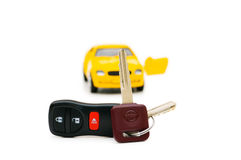 Car keys and car Stock Photo