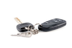 Car keys and charm from car alarm system Royalty Free Stock Image