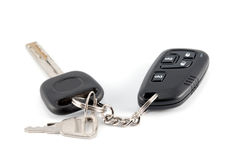 Car keys and charm from car alarm system Stock Image