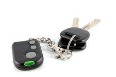 Car keys and charm from car alarm system Royalty Free Stock Images