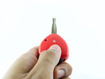 Car keys. Car control open red Royalty Free Stock Image