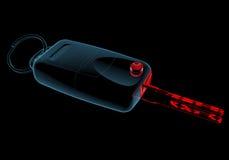Car keys (3D xray blue transparent) Stock Image