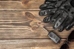 Car keys and driving gloves Royalty Free Stock Photos