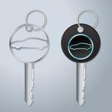 Car keys with engraved car symbol Royalty Free Stock Photo