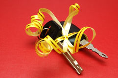 Car keys gift Royalty Free Stock Photography