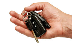 Car Keys. Keys in hand royalty free stock photos