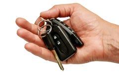 Car Keys. Keys in hand Royalty Free Stock Photos