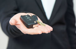 Car keys in hand men businessman Royalty Free Stock Photo