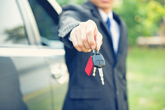 Car Keys,hand showing keys of automobile Stock Images