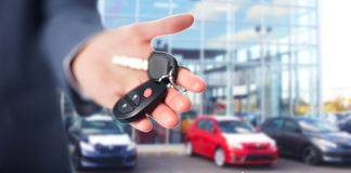 Car keys. Hand with a Car keys. Transportation. Driving Royalty Free Stock Photo