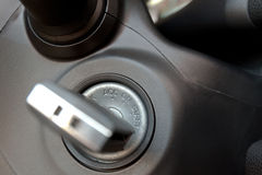 Car keys in ignition Royalty Free Stock Photography