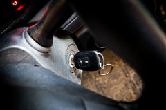 Car keys in ignition Stock Images