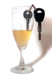 Car keys inside champagne flute Stock Photography