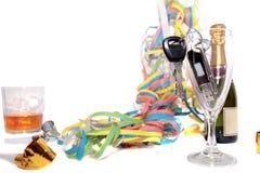 Car Keys Inside Champagne Glass Stock Images