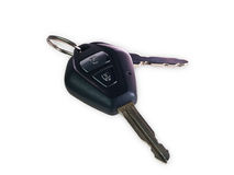 Car keys isolated Royalty Free Stock Photo