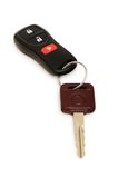 Car keys isolated. On the white background Royalty Free Stock Photos