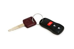 Car keys isolated. On the white background Royalty Free Stock Image