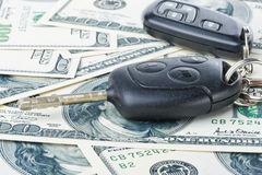 Car keys and money Stock Image