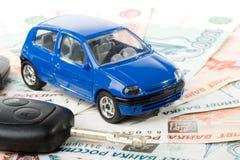 Car, keys and money