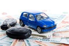 Car, keys and money Stock Photography