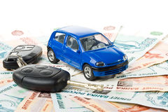 Car, keys and money Royalty Free Stock Photography