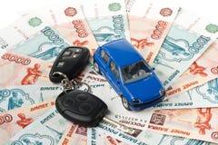 Car, keys and money Royalty Free Stock Photo