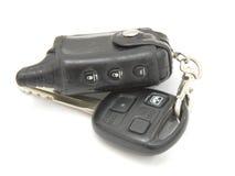 Car keys, objects isolated on white background . Royalty Free Stock Photo